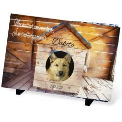 Plaque Funéraire pour chien niche