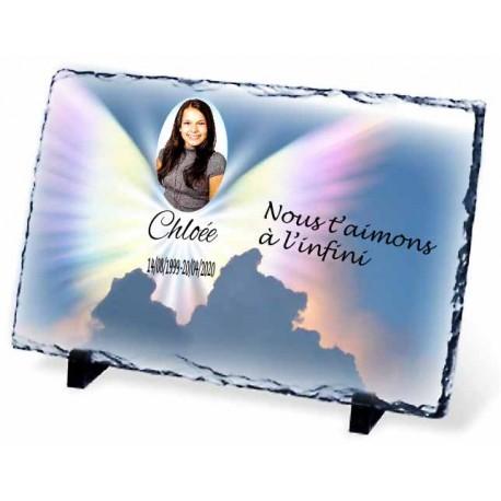 Plaque Funéraire ange du ciel ardoise