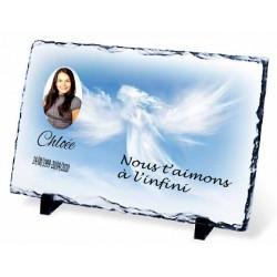Plaque Funéraire ange nuages