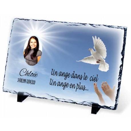 Plaque Funéraire colombe et ciel