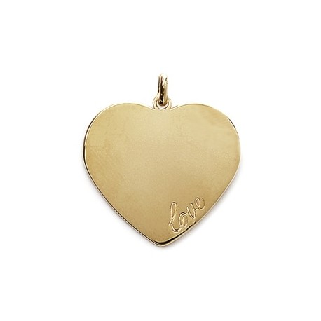 Coeur Love plaqué or gravé
