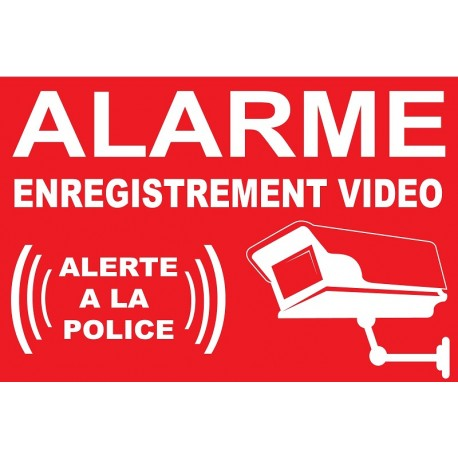 Sticker Alarme vidéo