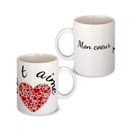 """Mug """"Je t'aime"""""""