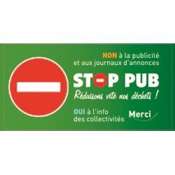 Sticker Stop Pub sens interdit