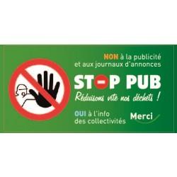 Sticker Stop Pub interdit