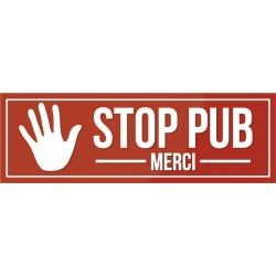 Sticker Stop Pub rouge