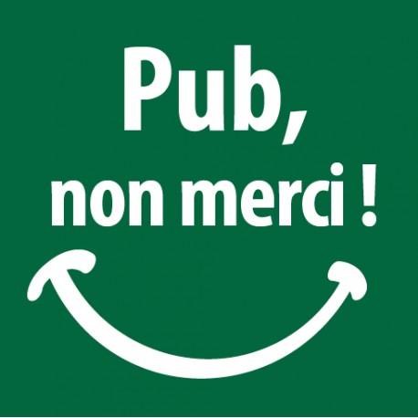 Sticker Stop Pub sourire