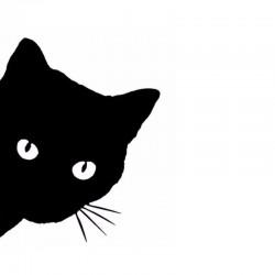 Sticker tête de chat
