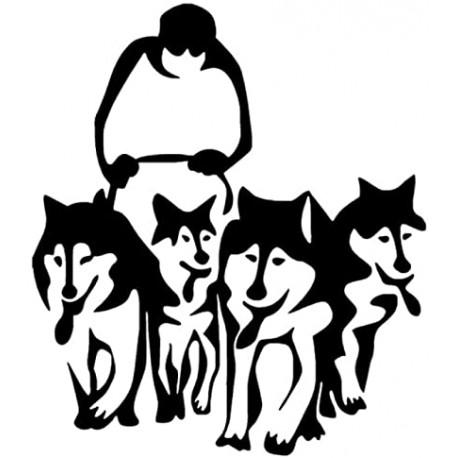 Sticker Husky mulching