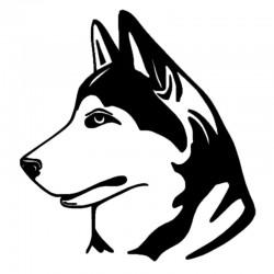 Sticker Husky profil