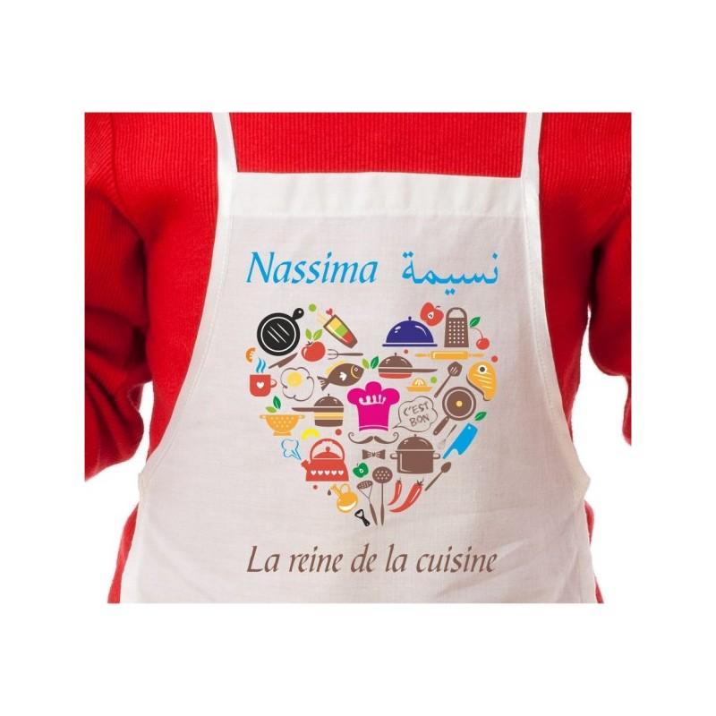Belle Tablier de cuisine Enfant Personnalisé NI-21
