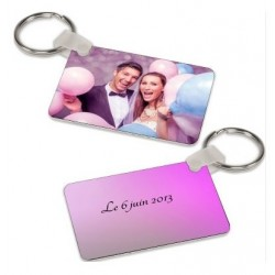 Porte clé Photo Aluminium Personnalisable