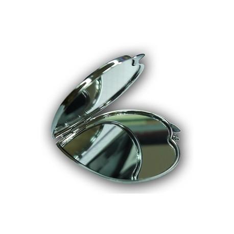 Miroir de poche coeur personnalisé