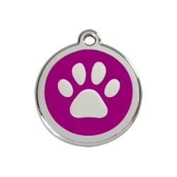 Médaille Chien Red Dingo Patte Violet