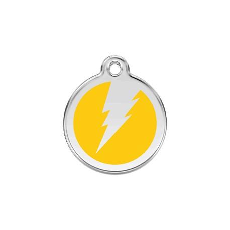 Médaille Chien Red Dingo Coeur Flash