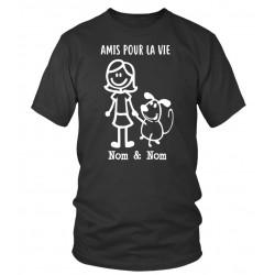 """Tee shirt personnalisé Femme """"Amis pour la Vie"""""""