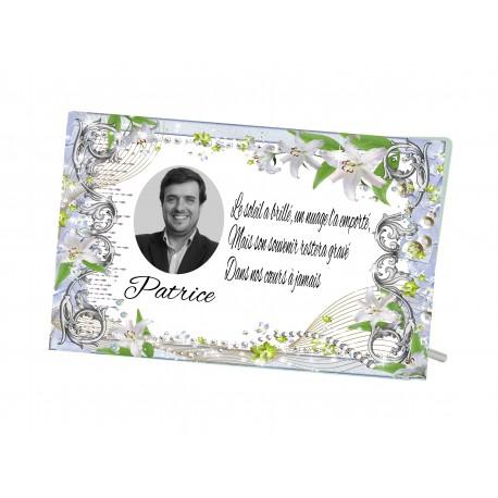 Plaque Funéraire Fleuri