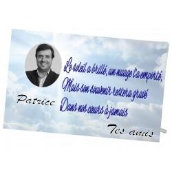 Plaque Funéraire Ciel