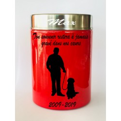 Urne Funéraire Animaux homme rouge