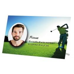Plaque Funéraire Golf