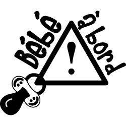 Sticker bb à bord attention