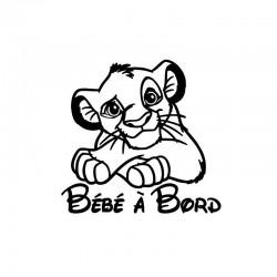 Sticker bb à bord Simba