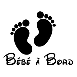 Sticker bb à bord pieds bébé