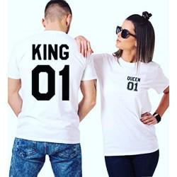 Pack 2 T-Shirt King-Queen