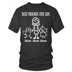 """Tee shirt personnalisé femme """"2 Amis pour la Vie"""""""