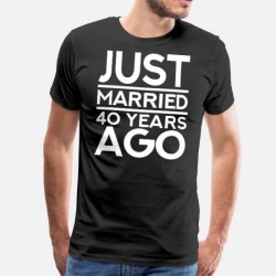 Tee shirt personnalisé Just married